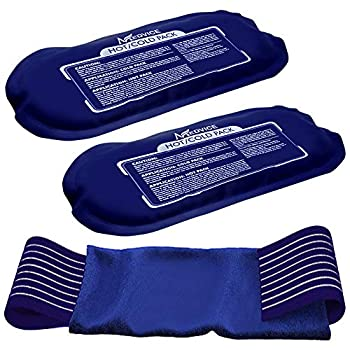 Medvice 2 Reusable Hot and Cold Ice Packs for Injuries Joint Pain Muscle Soreness and Body Inflammation - Reusable Gel Wraps - Adjustable & Flexible for Knees Back Shoulders Arms and Legs