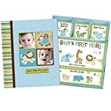 Product Image of the Baby Boy Memory Book Hardcover Record Babys First Five Years Diary Precious...