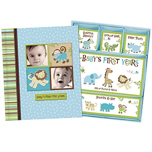 Silly Monkey Baby Boy - Baby's First Five Years Keepsake Record Book with Storage Box 5742500 by Jenny and Jeff