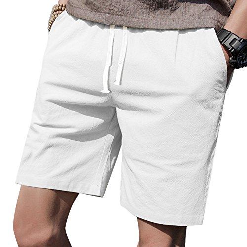 LTIFONE Mens Casual Shorts Elastic Waist 7
