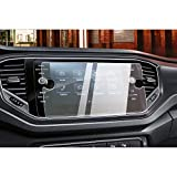 CDEFG Auto Navigation Glas Schutzfolie für V W T-ROC [2018-2019] 9H Kratzfest Anti-Fingerprint GPS Transparent Displayschutzfolie (8inches)