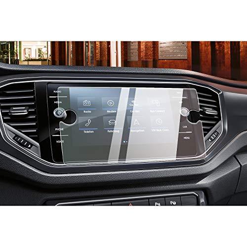 CDEFG Auto Navigation Glas Schutzfolie für V W T-ROC [2019-2021] 9H Kratzfest Anti-Fingerprint GPS Transparent Bildschirmschutzfolie Zubehör (8 Zoll)