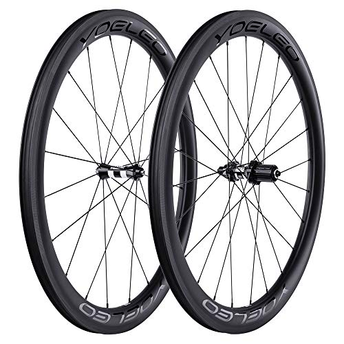 YOELEO Road Bike Wheels SAT C50 PRO Clincher Carbon 700C Bicycle Wheelset for Training and Racing (DT Swiss 350 for Shimano, No Decal)