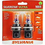 SYLVANIA - 9004 SilverStar Ultra - High Performance Halogen Headlight Bulb, High Beam, Low Beam and Fog Replacement Bulb, Brightest Downroad with Whiter Light, Tri-Band Technology (Contains 2 Bulbs)