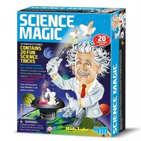 Juego Educativo 4M CIENCIA MAGICA con 20 trucos para descubrir la mágia de la ciencia Niños + 8 años