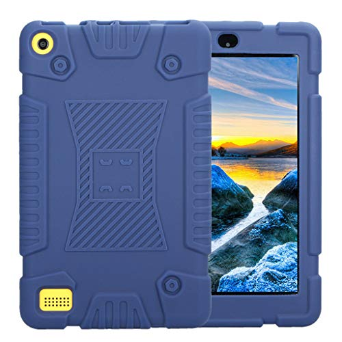 Silicone Case for Amazon Kindle Fire 7 2018/2017/2015 | Case Cover Tablet PC Protective Stand | Protective Stand Cover Shell Ultra Thin Stand Case Universal Silicone Case