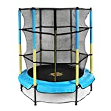 Trampoline for Kids with Enclosure Net, Doufit TR-05 55'' Mini Children Jumping Trampoline for Indoor and Outdoor Exercise, Recreational Rebounder for Toddlers with Elastic Ropes