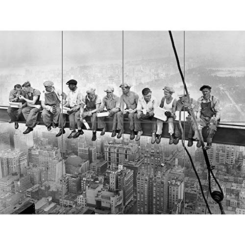 Artery8 Lunch ATOP A Skyscraper New York 1932 Iconic Photo XL Giant Panel Poster (8 Sections) Fotografieren