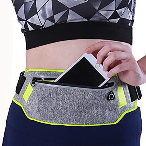 Bolsa para Correr Bolsa de Cintura Impermeable para Correr Riñonera Hombres Mujeres Bolsa de cinturón para Correr Gimnasio Bolsa de Fitness Accesorios para Bicicletas Deportivas - Rosa