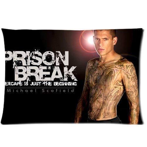 Among Custom Prison Break Home Decorative Soft Throw Pillowcase Cushion Custom Pillow Case Cover Protecter with Zipper Printed Kissenbezüge (40cmx60cm)