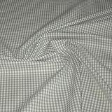 Stoff am Stück Stoff Baumwolle Vichy Karo hellgrau weiß