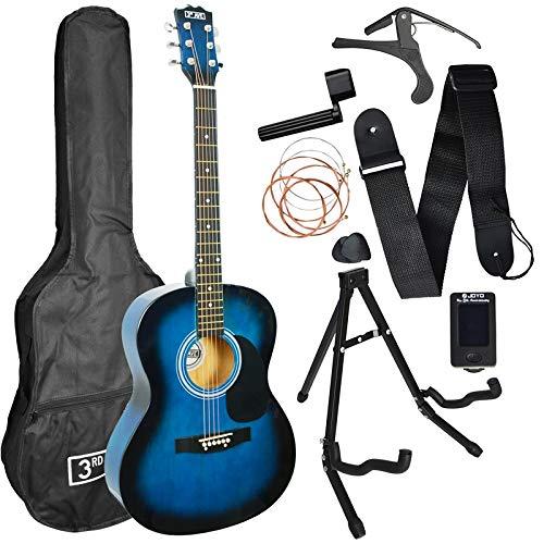 3rd Avenue Acoustic Guitar Premium Pack - Blueburst