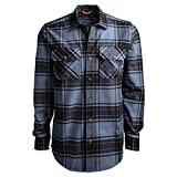 Timberland PRO Men's Woodfort Heavy-Weight Flannel Work Shirt, Vintage Indigo/Black Check, XL