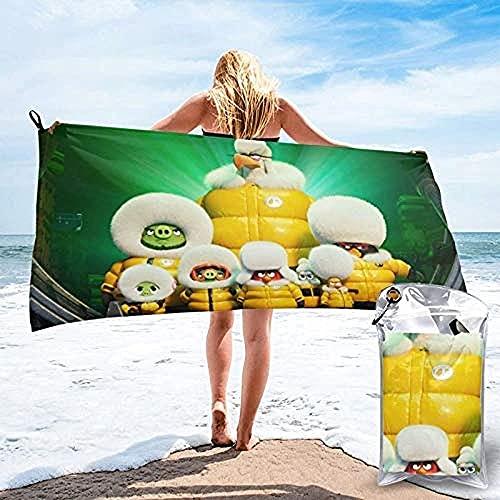 QWAS Angry Birds - Toalla de playa con bonito diseño de pájaros y cerdos, tela suave, es tu primera opción para viajar en casa (A07,80 cm x 135 cm)