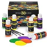 Magicfly Pintura Acrílica para Manualidades en Exteriores 30 Colores 60 ml...