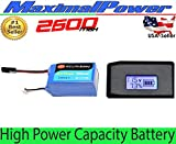 MaximalPower Best Selling Gifi Power LiPo Battery and Charger For PARROT AR.DRONE 2.0 & 1.0 Quadricopter (1 Battery 2600mAh + LCD Balancer Charger for 7.4V-11.1V Li-po Battery)