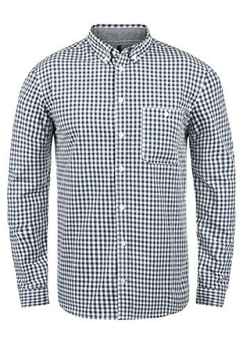 Redefined Rebel Macklin Herren Freizeithemd Hemd Mit Karomuster Und Button-Down-Kragen Aus 100{9496780f008aa8c9bf48631db68bfa1ba69465de0b5b5b57a10cf86eba6f01d6} Baumwolle, Größe:L, Farbe:Navy