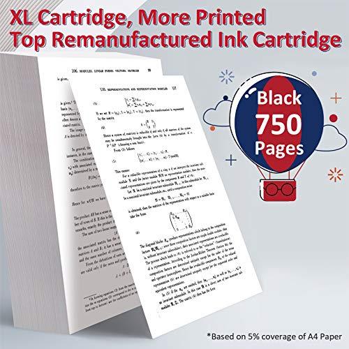 ColoWorld Remanufacturado 302 XL Negro Cartuchos de Tinta con HP 302XL Compatible con HP OfficeJet 3830 3831 3833 4650 5220 5230 DeskJet 1110 2130 3630 3637 3639 Envy 4520 4527 Impresoras(1 Paquete)