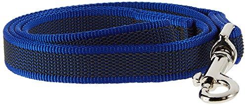 Julius-K9, 216GM-B-S1 Color & Gray Gumierte Leine Blau-Grau 20mm*1 m mit Schlaufe, max. für 50 kg Hunde