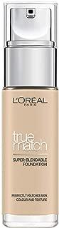 L'Oréal Paris Accord Parfait Foundation, efecto natural, con ácido hialurónico 1.N Ivoire/Ivory