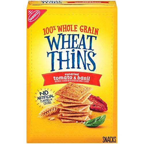 Wheat Thins Sundried Tomato & Basil Whole Grain Wheat Crackers, 9 oz -  Nabisco DSD, 10044000030435
