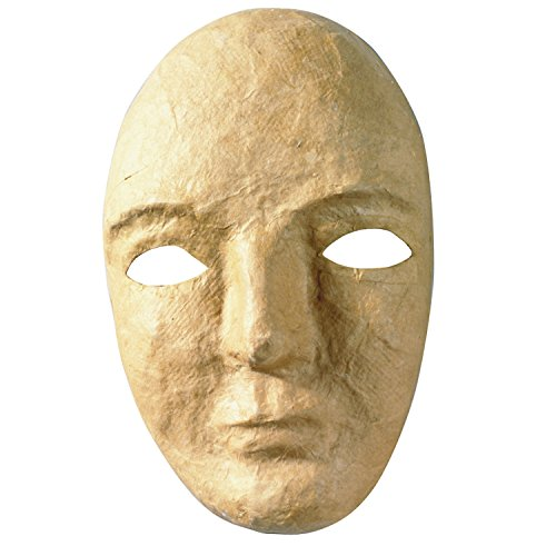 "Creativity Street Papier Maché Mask, 8"" x 5.25"", Pack of 12"