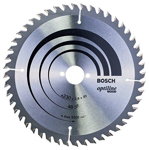 Bosch 2 608 640 629 - Hoja de sierra circular Optiline Wood (230 x 30 x 2,8 mm, 48)