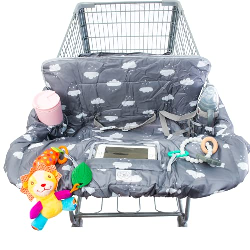 Lumiere Baby Shopping Cart Cover for Baby and Toddler - 2-in-1 High Chair Cover...