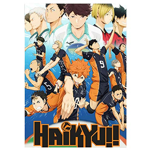 AMA-StarUK36 Anime Haikyuu!! Poster Wandaufkleber Papier Cartoon Character Collection Neuauflage Home Office Dekor 11.8x16.5inch(H06)