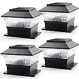 Best Solar Deck Post Lights - Solar Post Lights Outdoor, 4 Pack Solar Deck Review