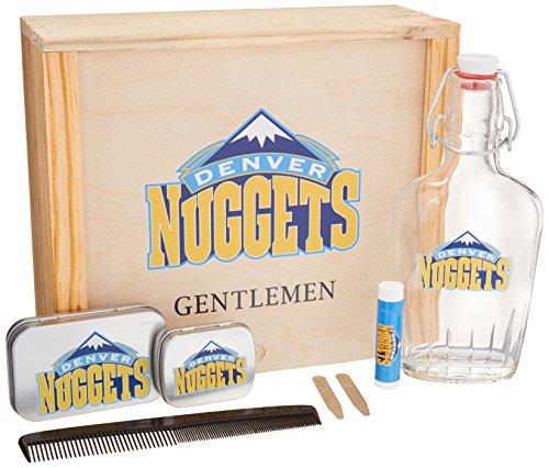 NBA Charlotte Hornets – Caja de regalo para caballeros (250 ml, botella de vidrio, 2 collares de latón,…
