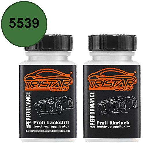 TRISTARcolor Autolack Lackstift Set für Agricultural/Agrar 5539 Lanz/John Deere Groen Basislack Klarlack je 50ml