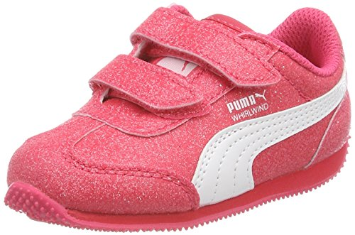 Puma Whirlwind Glitz V Inf, Scarpe da Ginnastica Basse Bambino, Rosa (Paradise Pink White), 23 EU