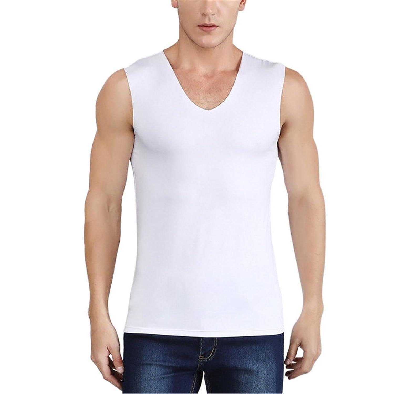 BESTLEE vネック ノースリーブ メンズ V首 tシャツ スポーツシャツ 無袖 夏用 吸汗速乾