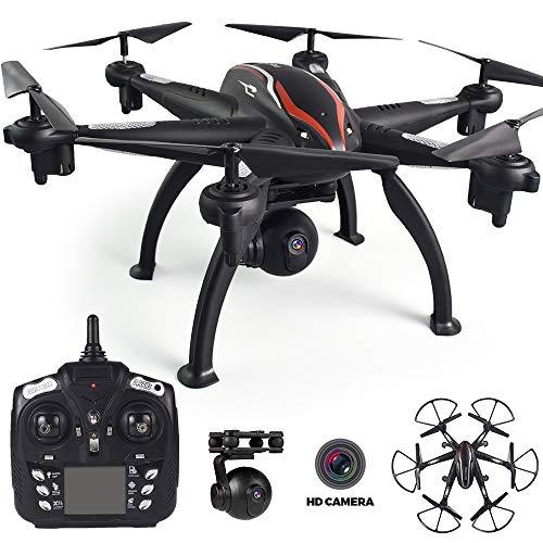 BQT drone met camera, 1080P grootwandel-hoek HD camera wifi FPV quadcopter UAV Remote Control Plane Live Helicopter Hover 360 graden Flip, Aircraft Toys