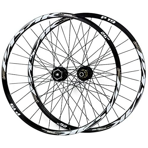 LICHUXIN 26/27,5/29 Pulgadas Montaña Juego De Ruedas De Bicicletas Liberación Rápida Llanta MTB De Doble Pared Bicicleta Eje Pasante Freno De Disco 7-11 Velocidad (Color : Gold-1, Size : 27.5in)