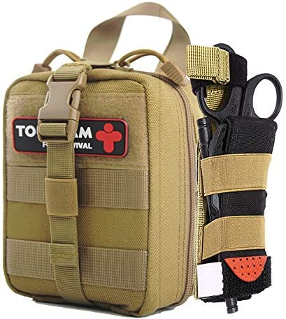 IFAK Trauma First Aid Kit Micro Rip Away Molle Med Pouch Fully Stocked Small Tactical Medical product image