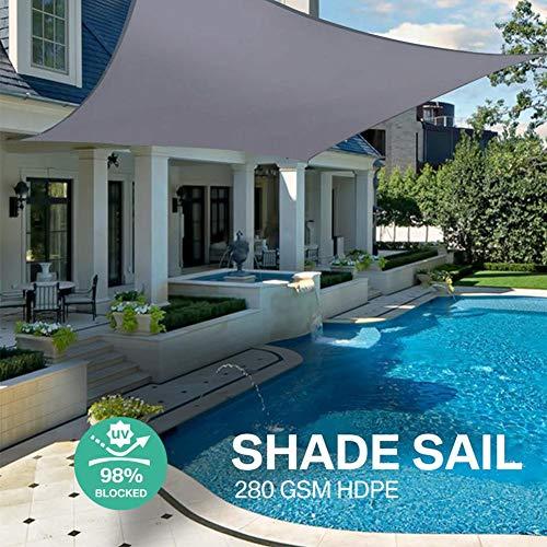 learnarmy Sonnensegel UV-Schutz Wasserdicht Sonnenschutz Segel für Outdoor Garten Schwimmbad, Unisex, Rechteckig, 3x4m