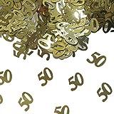 Folat 05327 - Tischkonfetti Zahl 50 - goldfarben - 12 x 14 gr.