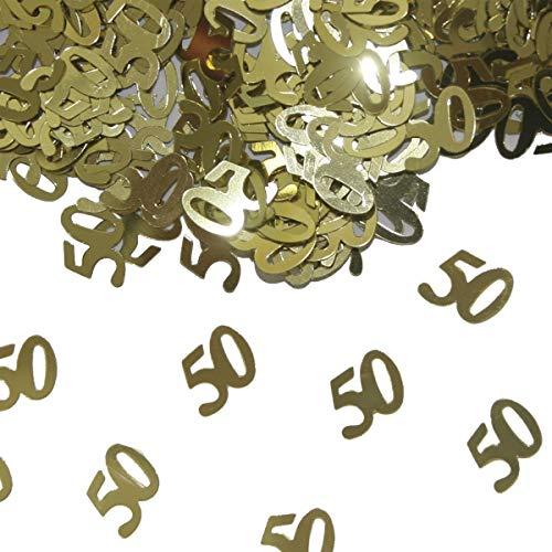 Folat 05327 - Tischkonfetti Zahl 50 - goldfarben - 1 x 14 gr.