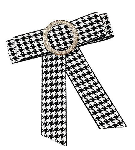 CWXDIAN Tie Bogen Brosche personalisierte Krawatte stricken Krawatte, weiß
