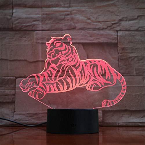 3D NIGHT LIGHT Tiger 3D Tischlampe Neue Moden LED Nachtlicht Luminaria Tier Romantische Atmosphäre Schlafzimmer Schlaf Beleuchtung Urlaub Dekor Geschenke Give children birthday gifts