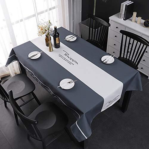 YDBKS Moderno Simple Anti-escaldado Mantel Impermeable Color Puro Luz Algodón de Lino Arte Mesa de Centro Mantel Mantel