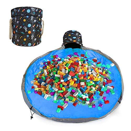 Aufräumsack Kinder, Spielzeug Aufbewahrung Tasche mit Drawstring & Deckel Spieldecke, Aufbewahrungsbeutel für Kinderzimmer Spieldecke Outdoor Baby, Aufbewahrungsbox Spielzeug
