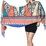 Bufanda de mantón, Cashmere Feel Classic Soft Luxurious Winter Scarf for Men Women, Native American Patterns4 27x77 Inch