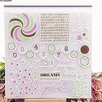 風車の言葉透明なクリアシリコーンスタンプ/DIYスクラップブッキング/フォトアルバム用シール装飾的なクリアスタンプシート