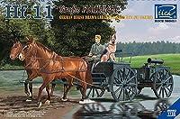 リッチモデル 1/35 ドイツ Hf.11型馬車 大形フィールドキッチン 馬2頭 兵士1体 犬 プラモデル RC35013