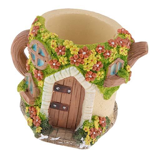Homyl Pot Succulent Boîte de Rangement Planteur Jardinage Cadeau Décoration - Salle Bouilloire (Lumière)