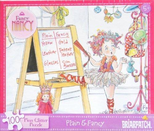 Fancy Nancy Plain & Fancy 100 Piece Glitter Puzzle MADE IN USA by Fancy Nancy Glitter Puzzle