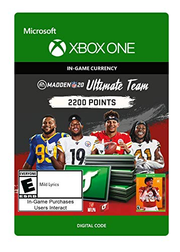 Madden NFL 20: MUT 2200 Madden Points Pack - [Xbox One Digital Code]